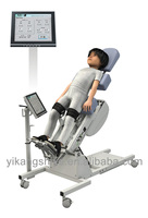 Active feedback medical gait trainer equipment for children leg exoskeleton training and evaluation with gait analysis