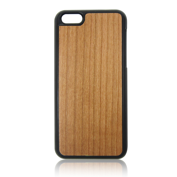 Hot selling wooden back case for iphone5c, PC back blank wood case, mobile phone wooden case for iphone6