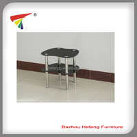 heart shape glass side table corner table