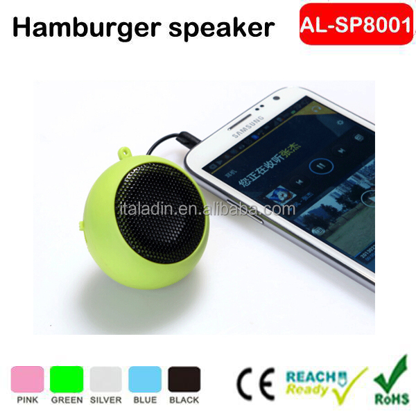 Christmas promotion gift mini portable audio wired speaker for mobile phone mp3 mp4 computer laptop