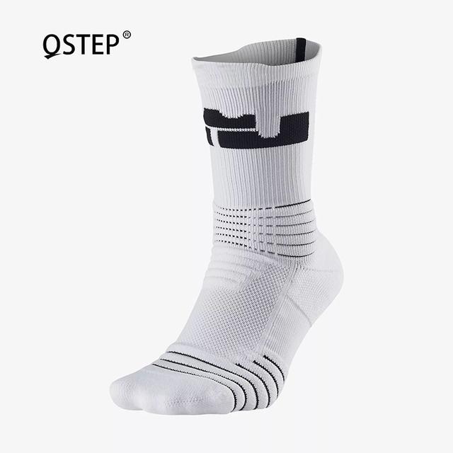 2017 hot sale good quality mens white crew basketball socks