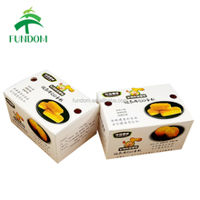 custom full color printing laminated food grade paper apple pie packaging box with air outlet