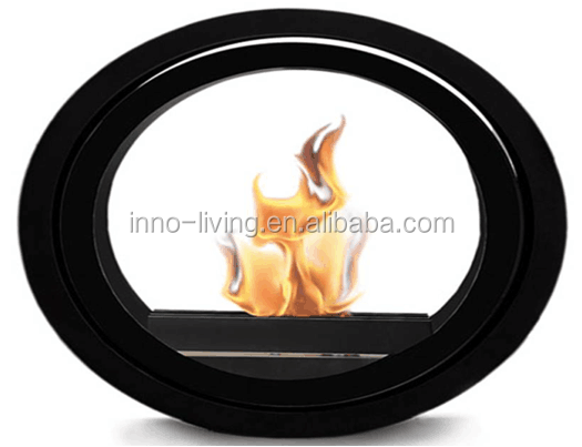 Round stainless steel ethanol ceiling mounted fireplace