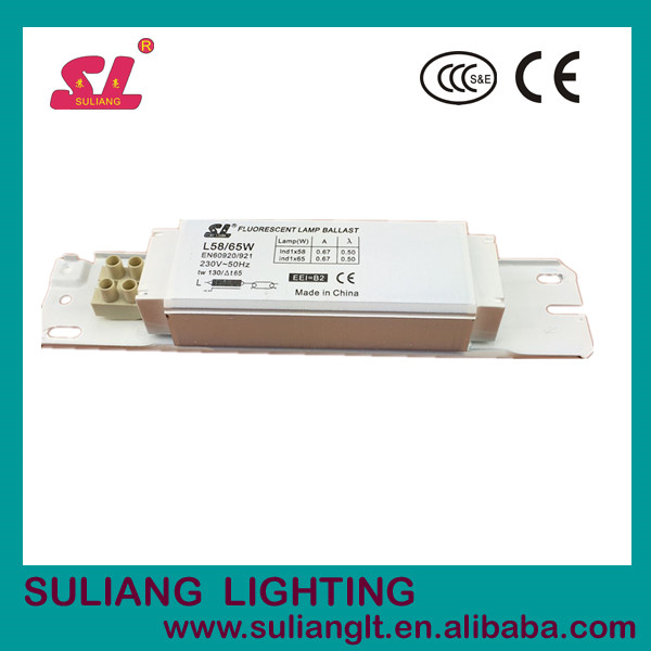 58W 65W 230V fluorescent lamp ballast lighting ballast