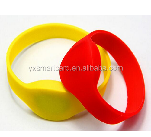 125Khz RFID Wristband Bracelet EM4100 Silicone Proximity Smart Card Waterproof Watch Type for Access Control