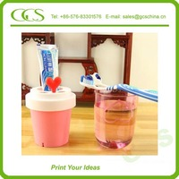artificial deer antlers toothbrush holder suction cup transparent plastic cup