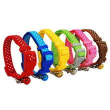 Dot Print Nylon Dog Puppy Cat Collars For Pet Small Animal Pets Supplies