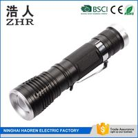 500lm long distance direct wall/car charge,usb rechargeable strong light zoom flashlight torch