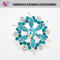 2014 new cheap fashion jewelry ladies big flower rings with rhinestone