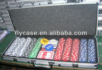 2015 new design 500 holds poker chip case with playing card and dice and dealer ,logo print ,chips card set