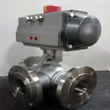 LT electric Flange connect Y type 3 way 120 degree ball valve