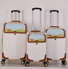 PU leather air trolley luggage