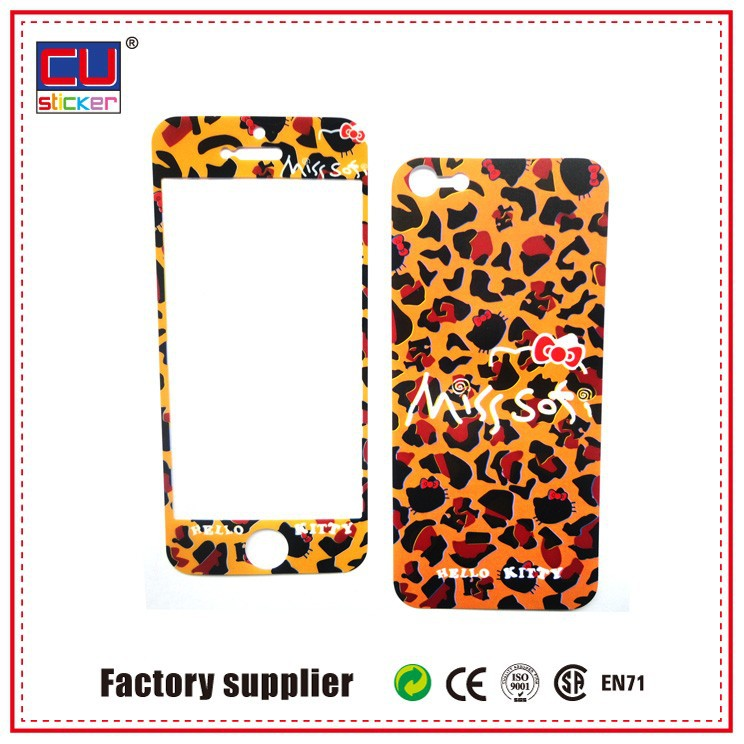 Customized Funny Crystal Cell Phone Paper PVC phone skin Stickers