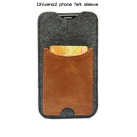 For apple iphone 6 handmade genuine vintage leather wallet cell phone case cover