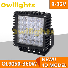"Auto Parts LED Driving Light, 180w 4D Reflector led work lamp, 9"" auto led driving lamp offroad Light"