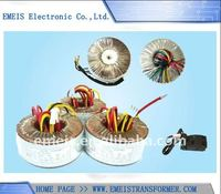 Toroidal Transformer with 166V Rated Voltage, Available in Various Colors