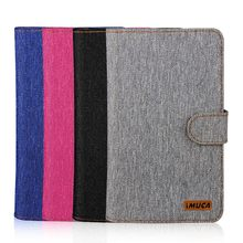 2015 Fashion Jean PU leather Universal wallet cell phone book flip cases for BQ/Alcatel/lenovo/huawei Mobile Phone