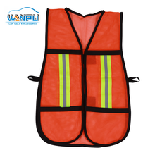 Polyester Knitted Wholesale High Visibility reflective customized LOGO yellow <strong>safety</strong> vest