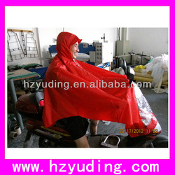 PVC/polyester motor rain bicycle poncho