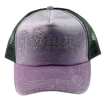 Custom Mesh Rhinestone Trucker Cap Girl with Mesh
