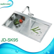 2017 Kitchenware with drainer heat handmade stainless steel kitchen sink