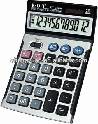 Citizen calculator,big size desktop calculator with solar energy for office