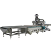 Automatic cnc furniture production line with drilling cutting engraving auto tool change cnc router