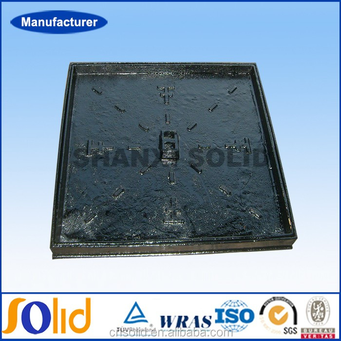 Ductile iron cement filled manhole cover