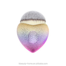Colorful shining rainbow heart shape best cheap makeup brushes mermaid face eye shadow eyeliner makeup brushes rose gold