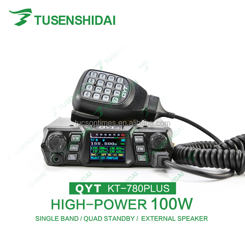 Single band transceiver quad band standby mobile radio QYT KT-780plus 100w transceiver