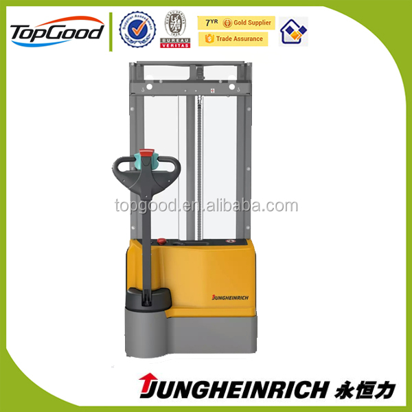 jungheinrich 1.5 ton samll electric stacker, mini hydraulic stacker, electricforklift stacker for sale