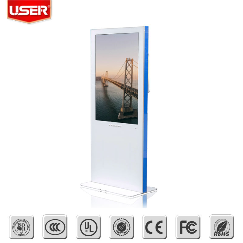 55 Inch floor stand High-definition 1080P Screen OEM Indoor LCD Digital Signage for <strong>Advertising</strong>