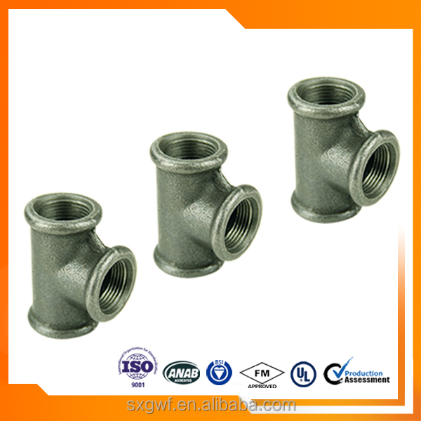 Good quality GI pipe water media casing tee 130