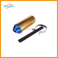China hot sale colorful alloy CNC Aluminum motorcycle pitbike exhaust muffler pipe
