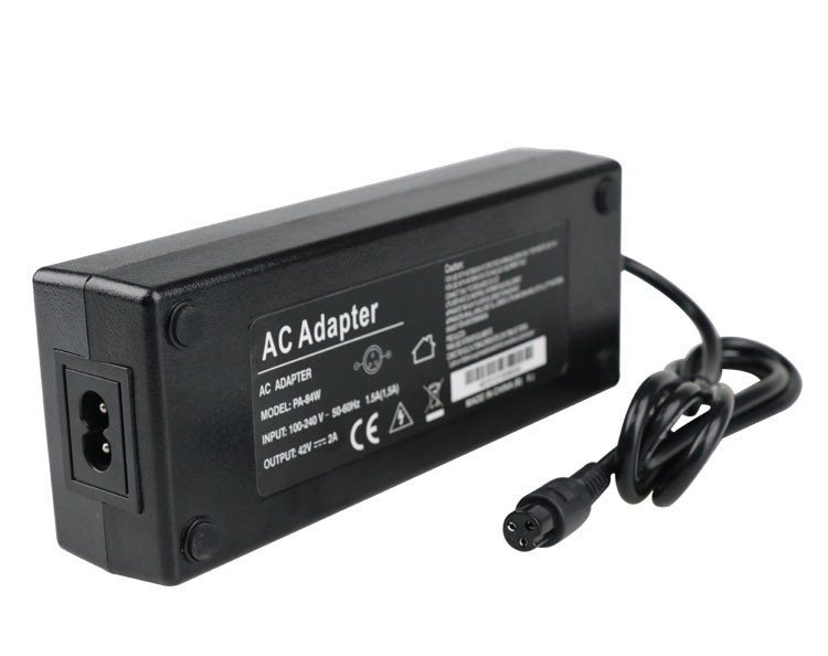 42V 2A power adapter for electric bike and scooter charger