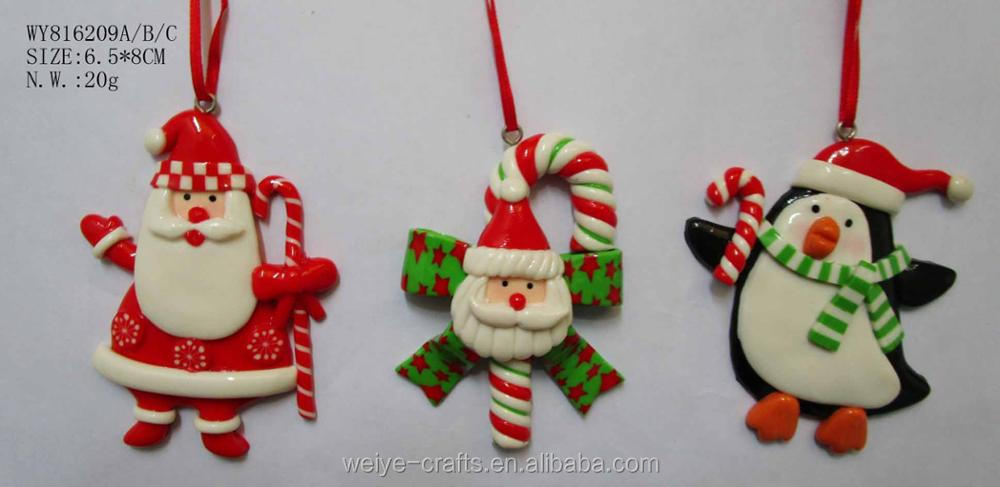 Factory produce various new christmas Clay Dough decoration Christmas Ornaments