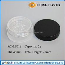 5g matte finish plastic loose powder container with sifter