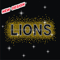 lion rhinestone transfers bling design FY 29 (4)