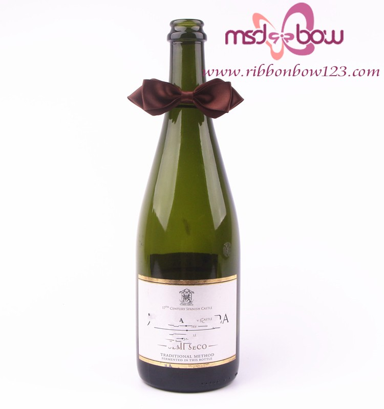 wholesale bow ribbon wine bottle packing