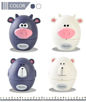 Plastic Kitchen Tools Cartoon Animal Shape 60 Minutes Mechanism Kitchen Timer Cute Bear Timer Cow Kitchen Timer