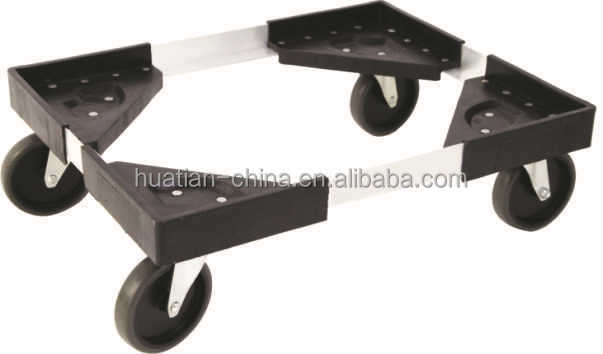 plastic dolly with aluminium conecting best sell in Japan,Dolly flat cart TC4320,Metal moving dolly