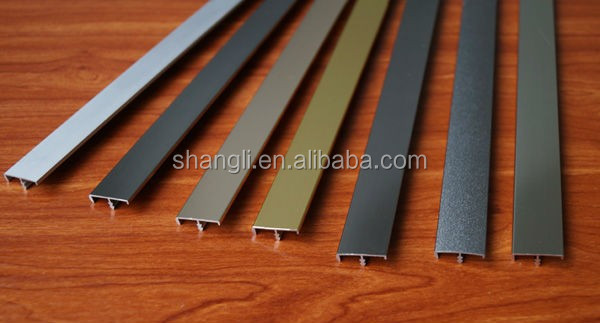 Aluminiun trim cabinet door edge profiles laminate countertop edge profiles