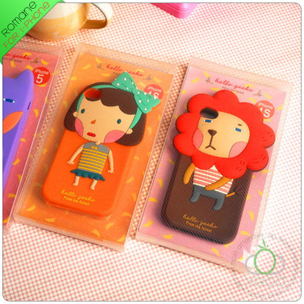 fashionable funny silicone case for iphone 5