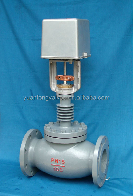 Regulating globe valve (flanged) with actuator