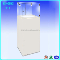 Floor standing led acrylic jewelry products display cabinet, acrylic display stand case