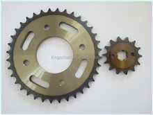 DY100 motorcycle parts 1045 steel 428H motorcycle chain and sprocket kits