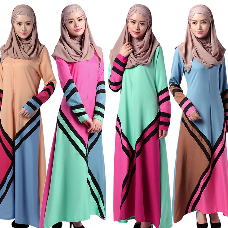 Zakiyyah 033 Spliced Dubai New Long Sleeve Evening Abaya Stone Work Sharjah Maxi Lycra Fancy Colored Muslim Dress For Women