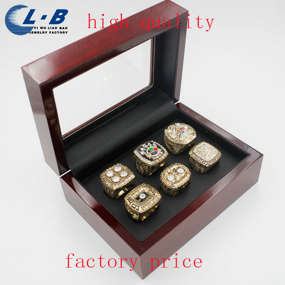 Liaobao Fashion Replica Championship Ring Sets Pittsburgh Steeler Super Bowl Championship Ring