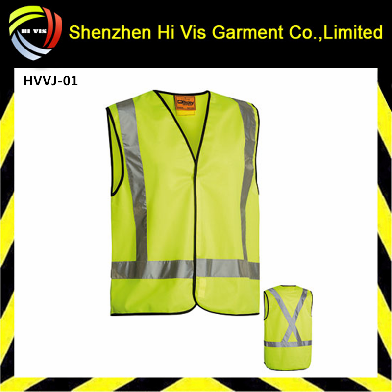 yellow safety vest,hi vis work vest,reflective tape vest