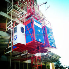 SC200/200-2ton Rack-and-pinion Threee-drive Double-cage Construction Elevator